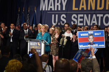 Mary Landrieu Sen. Landrieu Gathers With Supporters On Election Night In New Orleans