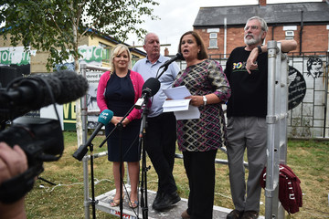 Mary Lou McDonald Gerry Adams Support Rally Following Explosive Attack On His Home