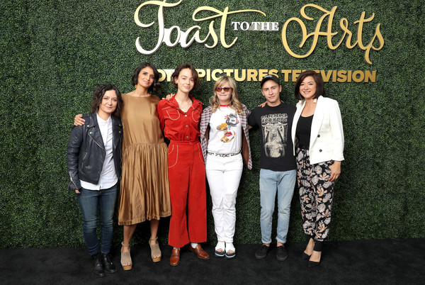 Sony Pictures Television's Emmy FYC Event 2019 'Toast to the Arts' [social group,event,fashion,premiere,carpet,formal wear,style,fashion design,bridgette lundy-paine,jennifer jason leigh,robia rashid,sara gilbert,mary rohlich,arts,toast,l-r,sony pictures television,emmy fyc event]
