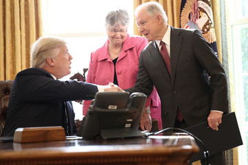 Mary Sessions Sen. Jeff Sessions Sworn In As Attorney General At The White House