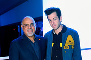 Mastercard CMO Raja Rajamannar (L) and musician Mark Ronson attend the Mastercard unveiling of its new symbol brand at iHeartRadio and Mastercard's Live Event, 2019 International CES at Drai's Nightclub Las Vegas on January 9, 2019 in Las Vegas, Nevada.