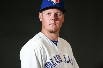 Mat Latos Toronto Blue Jays Photo Day