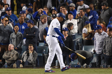 Matt Kemp League Championship Series - Milwaukee Brewers vs. Los Angeles Dodgers - Game Four