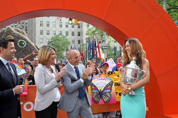 Matt Lauer Carson Daly Michelle Wie Visits the 'Today' Show
