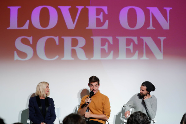 Fire TV Presents: Love on Screen Panel And Screening Event At 'The Museum of Modern Love' [fire tv presents: love on screen panel screening event,the museum of modern love,text,font,youth,fashion,event,design,performance,adaptation,conversation,job,matt rogers,candace bushnell,justin mcleod,l-r,museum of modern love,new york city]
