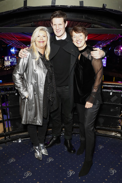 National Youth Theatre Fundraising Evening [fashion,event,fun,outerwear,textile,luxury vehicle,fashion design,leather jacket,formal wear,performance,dawn airey,jacquie lawrence,matt smith,l-r,cafe royal,england,london,getty images,national youth theatre fundraising evening,national youth theatre fundraising]