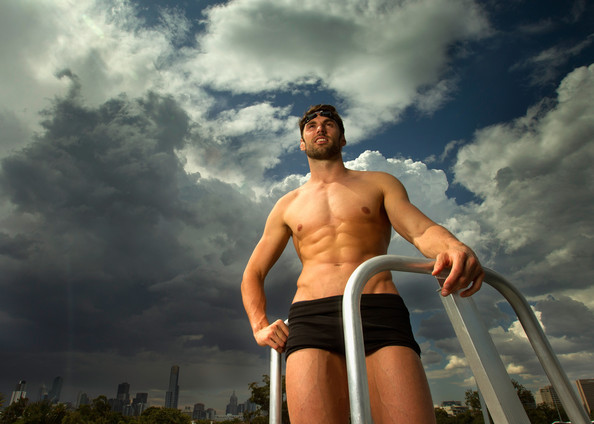 A [graduated] neutral density filter was used for this image.) Australian swimmer Matt Targett poses during a portrait session at the Victorian Institute of Sport on February 16, 2012 in Melbourne, Australia.