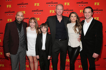"""Matthew Rhys Holly Taylor FX's """"The Americans"""" Season One New York Premiere - Inside Arrivals"""