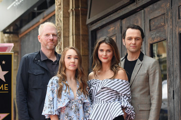 Matthew Rhys Keri Russell Honored with a Star on the Hollywood Walk of Fame