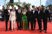 "(L-R) Antoine Pilon, Nancy Grant, Gabriel D'Almeida Freitas, Catherine Brunet, Xavier Dolan, Pier-Luc Funk, Samuel Gauthier and Adib Alkhalidey attend the screening of ""Matthias Et Maxime (Matthias and Maxime)"" during the 72nd annual Cannes Film Festival on May 22, 2019 in Cannes, France."
