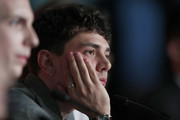 """Director Xavier Dolan attends the """"Matthias et Maxime (Matthias and Maxime)"""" Press Conference during the 72nd annual Cannes Film Festival on May 23, 2019 in Cannes, France."""