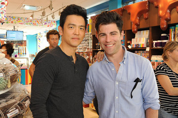 Max Greenfield Dylan's Candy Bar And Milk + Bookies Partner For The LA Launch Of The 50th Anniversary Charlie And The Chocolate Factory Capsule Collection