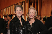 Beth Rudin DeWoody and Joanne Leonhardt Cassullo, Trustees for the Whitney Museum attend the Max Mara Whitney Bag Launch Party at Top of the Standard Hotel on April 22, 2015 in New York City.