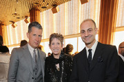 Stefano Tonchi, Editor in Chief of W Magazine, Beth Rudin DeWoody and Luigi Maramotti, Chairman of Max Mara attend the Max Mara Whitney Bag Launch Party at Top of the Standard Hotel on April 22, 2015 in New York City.