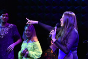 Max Vernon, Helen Park and Leah Lane perform at Max Vernon: Existential Life Crisis Lullaby at Joe's Pub on April 23, 2019 in New York City.