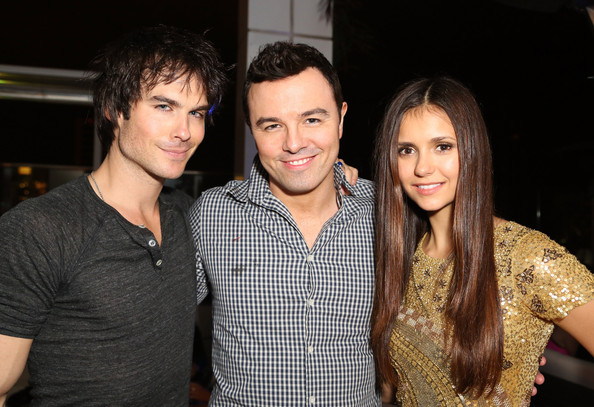Photo of Seth MacFarlane & his friend  Nina Dobrev