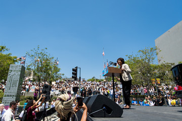 Maxine Waters Families Belong Together - Freedom For Immigrants March Los Angeles