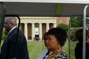 Bernice King arrives at Wait Chapel to attend the Maya Angelou Memorial Service at Wake Forest University on June 7, 2014 in Winston Salem, North Carolina.