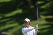 Ryo Ishikawa of Japan plays his second shot on the par four 9th hole hole during the third round of the Maybank Championship Malaysia at Saujana Golf and Country Club on February 3, 2018 in Kuala Lumpur, Malaysia.