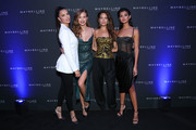 Adriana Lima, Josephine Skriver,  Emily DiDonato and Livia Rangel attend the Maybelline New York Fashion Week party on September 07, 2019 in New York City.