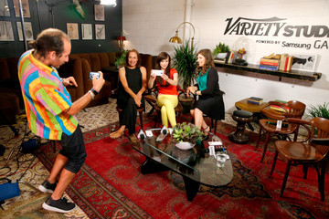 Mayim Bialik Celebs Hang at the Variety Studio