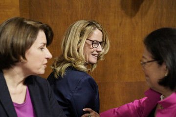 Mazie Hirono Dr. Christine Blasey Ford And Supreme Court Nominee Brett Kavanaugh Testify To Senate Judiciary Committee