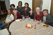 (L-R Standing) Recording Artists Deborah, Alfreda and Regina McCrary of the McCrary sisters (L-R Seated) Ann McCrary of the McCrary Sisters, Producer Buddy Miller, Glenda Edwards, Thirty Tiger's David Macias and Americana Music Association's Jed Hilly attend The McCrary Sisters Soul Food CD Release Feast on March 10, 2015 in Nashville, Tennessee.