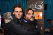James Marsden and Jack Black hugged it out. - What the Stars are Doing at the 2015 Sundance Film Festival