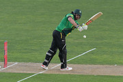 Jesse Ryder of the Central Stags plays a shot during the McDonalds Super Smash T20 match between Central Stags and Otago Volts on December 16, 2016 in Napier, New Zealand.