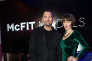 Michael Michalsky and Wanda Badwal attend the McFit Models Launch during Mercedes-Benz Fashion Week Autumn/Winter 2014/15 on January 14, 2014 in Berlin, Germany.