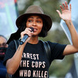 Meagan Good BLD PWR And Black Lives Matter Los Angeles Host Final March To The Polls In Downtown Los Angeles