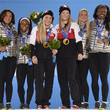 Lauryn Williams and Heather Moyse