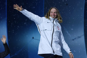 Gold medalist David Wise of the United States celebrates during the medal ceremony for Freestyle Skiing - Men's Ski Halfpipe on day 13 of the PyeongChang 2018 Winter Olympic Games at Medal Plaza on February 22, 2018 in Pyeongchang-gun, South Korea.