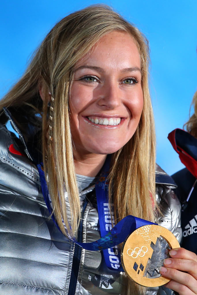 Jamie Anderson in Medal Ceremony - Winter Olympics Day 2 ...