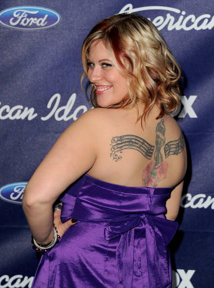 Singer Erika Van Pelt arrives at Fox's American Idol finalist party at The Grove on March 1, 2012 in Los Angeles, California.