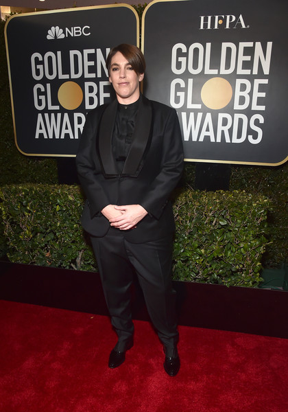 76th Annual Golden Globe Awards - Executive Arrivals [premiere,carpet,red carpet,flooring,event,suit,beverly hills,california,the beverly hilton hotel,golden globe awards,megan ellison,arrivals]