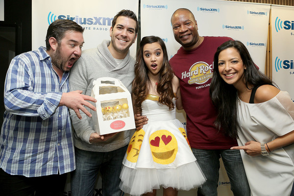 SiriusXM Hits 1's The Morning Mash Up Broadcast From The SiriusXM Studios In Los Angeles [the morning mash up broadcast,event,liqueur,drink,food,siriusxm hits 1,stanley t,megan nicole,nicole ryan,rich davis,ryan sampson,l-r,los angeles,the siriusxm studios]