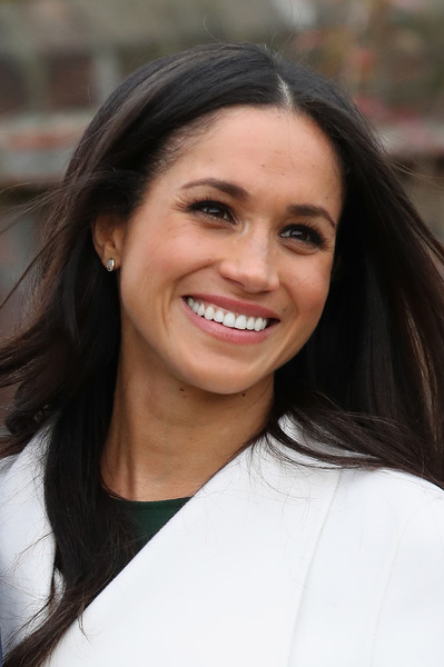 Announcement of Prince Harry's Engagement to Meghan Markle [hair,face,eyebrow,hairstyle,beauty,chin,smile,skin,lip,long hair,harry,meghan markle,engagement,engagement,the sunken gardens,kensington palace,london,england,announcement,photocall]
