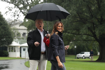 Melania Trump President And Mrs Trump Depart White House For Florida And Georgia