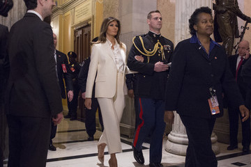Melania Trump Trump Addresses the Nation in His First State of the Union Address to Joint Session of Congress