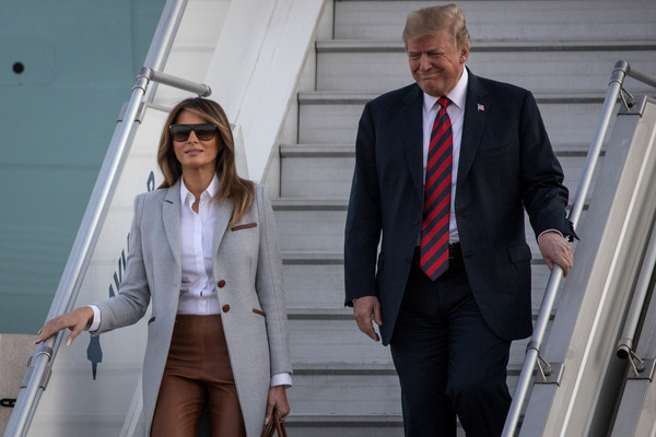 Trump Arrives In Finland For Talks With President Putin Of Russia