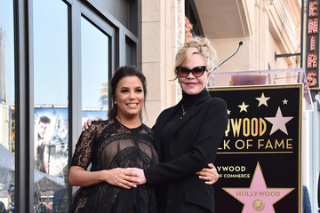 Melanie Griffith Eva Longoria Honored With Star On The Hollywood Walk Of Fame