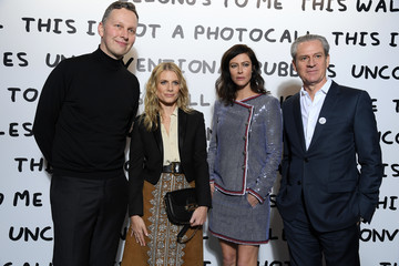 Melanie Laurent Ruinart & David Shrigley - Unconventional Bubbles Exhibition : Photocall At Opera Bastille