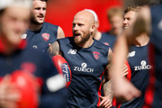 Nathan Jones of the Demons warms up before a Melbourne Demons AFL training session at Gosch's Paddock on September 17, 2018 in Melbourne, Australia.