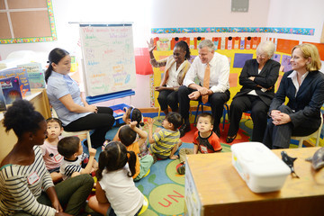 Melinda Katz New York Mayor Bill de Blasio Visits Inner Force Early Childhood Learning Center