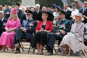 (from 2nd L) Prince Michael of Kent,  Princess Michael of Kent, Prince Edward, Duke of Kent and guest attend the RAF 100 ceremony on Horse Guards Parade on July 10, 2018 in London, England. A centenary parade and a flypast of up to 100 aircraft over Buckingham Palace took place earlier today to mark the Royal Air Forces' 100th birthday.