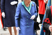 Queen Elizabeth II attends as members of the Royal Family attend events to mark the centenary of the RAF on July 10, 2018 in London, England.