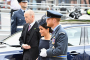 (L-R) Meghan, Duchess of Sussex and Prince Harry, Duke of Sussex attend as members of the Royal Family attend events to mark the centenary of the RAF on July 10, 2018 in London, England.