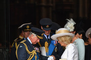 (L-R) Prince Charles, Prince of Wales, Prince William Duke of Cambridge and Camilla, Duchess of Cornwall attend as members of the Royal Family attend events to mark the centenary of the RAF on July 10, 2018 in London, England.