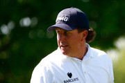 Phil Mickelson waits to play a shot on the 4th hole during the final round of the Memorial Tournament presented by Nationwide Insurance at Muirfield Village Golf Club on June 1, 2014 in Dublin, Ohio.